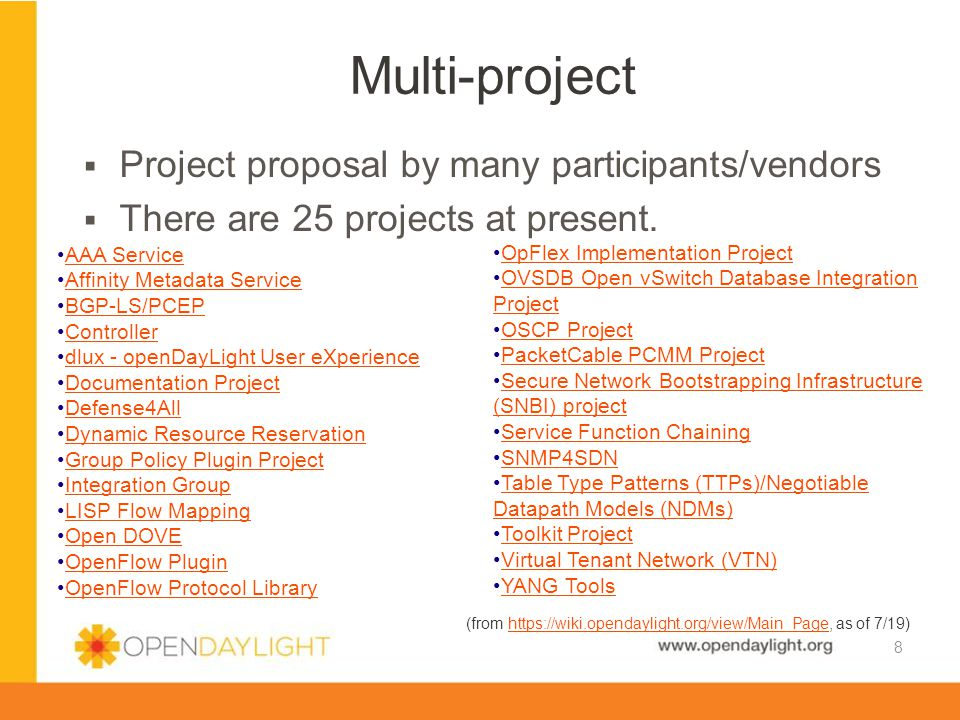 Multi-project Project proposal by many participants/vendors