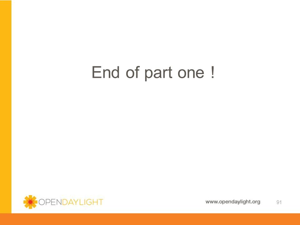 End of part one!