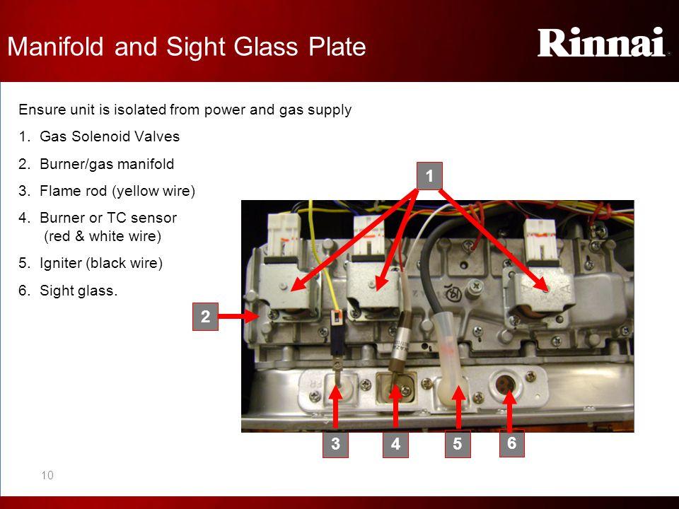 Manifold and Sight Glass Plate