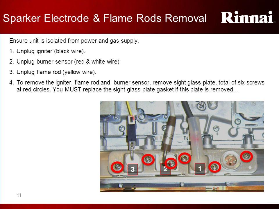 Sparker Electrode & Flame Rods Removal
