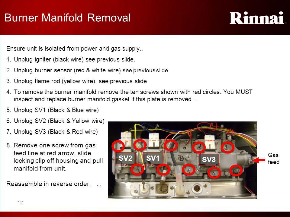 Burner Manifold Removal