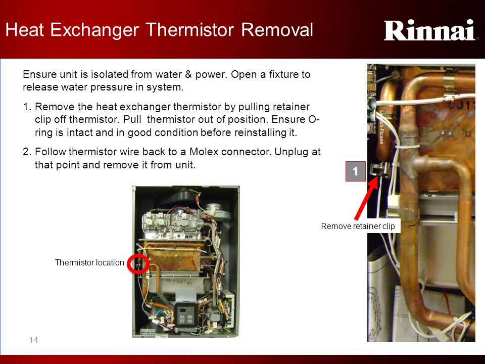 Heat Exchanger Thermistor Removal