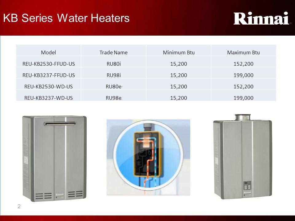 KB Series Water Heaters