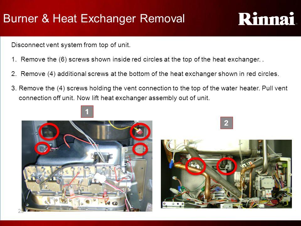 Burner & Heat Exchanger Removal