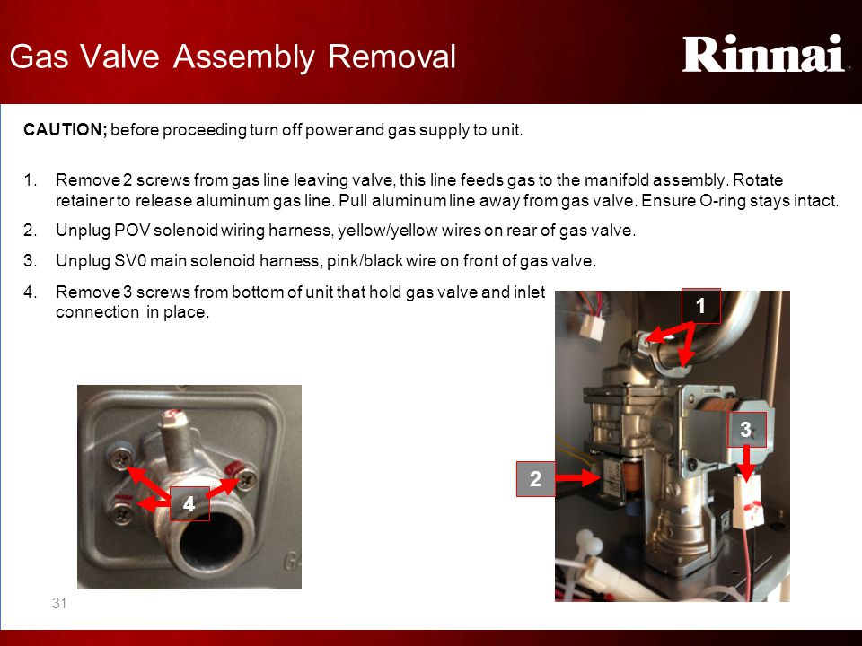 Gas Valve Assembly Removal