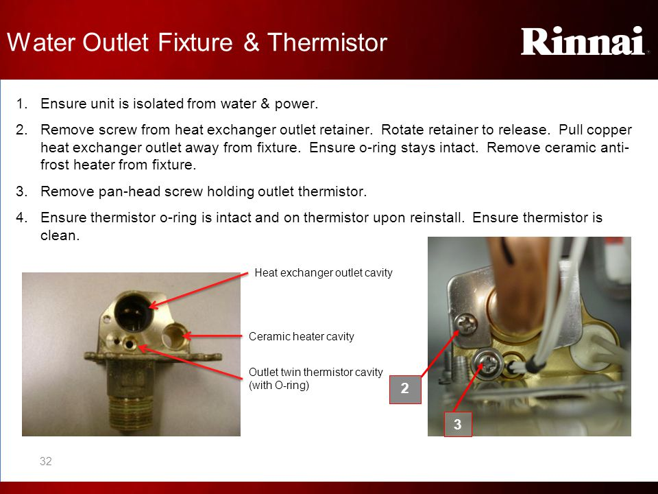 Water Outlet Fixture & Thermistor