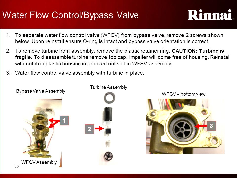 Water Flow Control/Bypass Valve