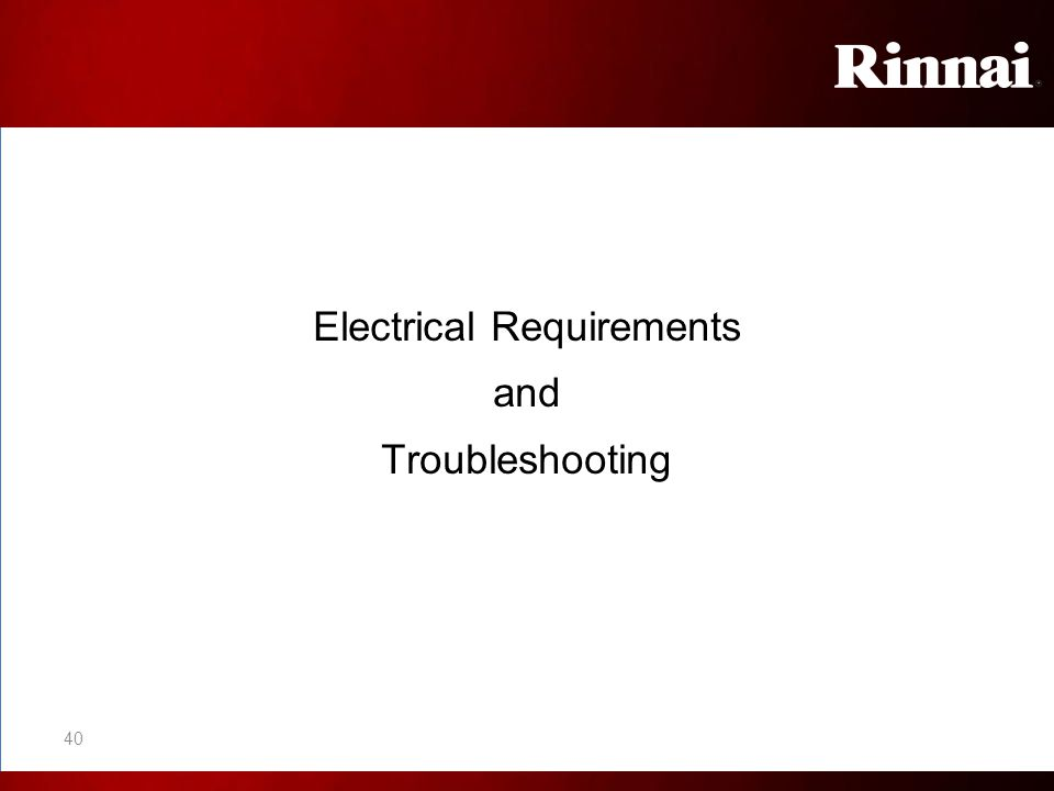 Electrical Requirements