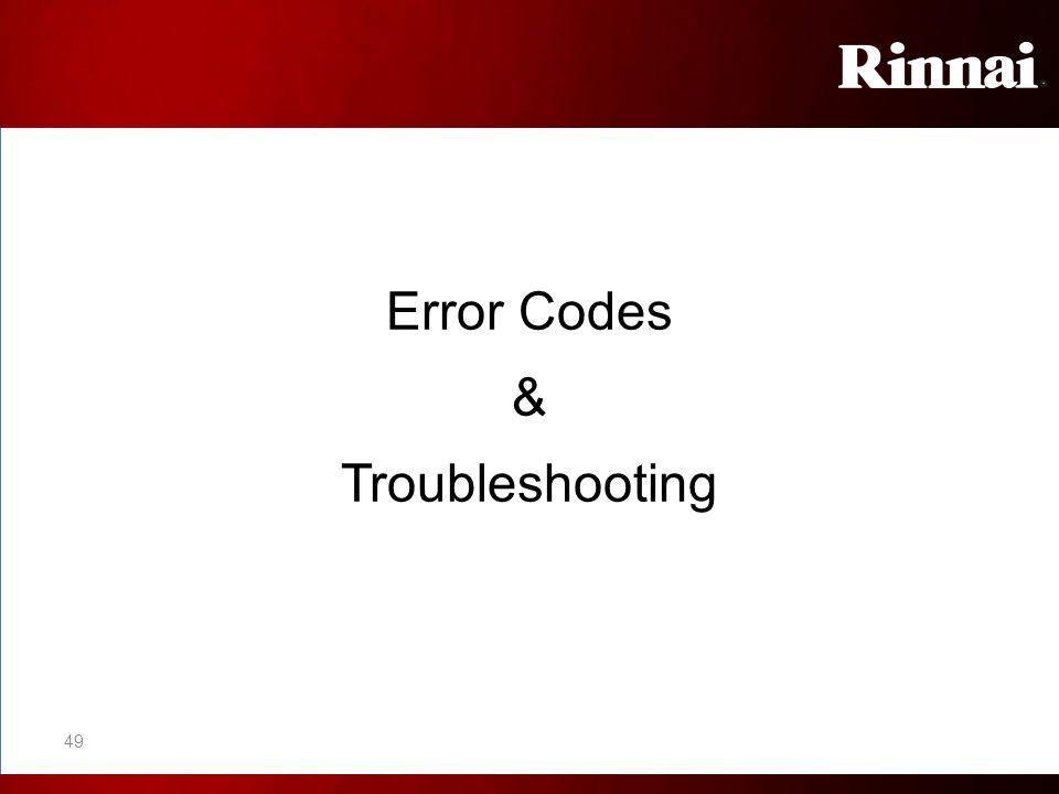 Error Codes & Troubleshooting