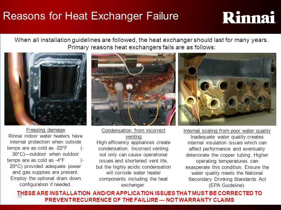 Reasons for Heat Exchanger Failure