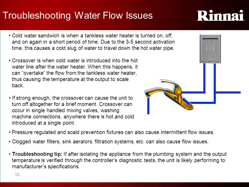 Troubleshooting Water Flow Issues