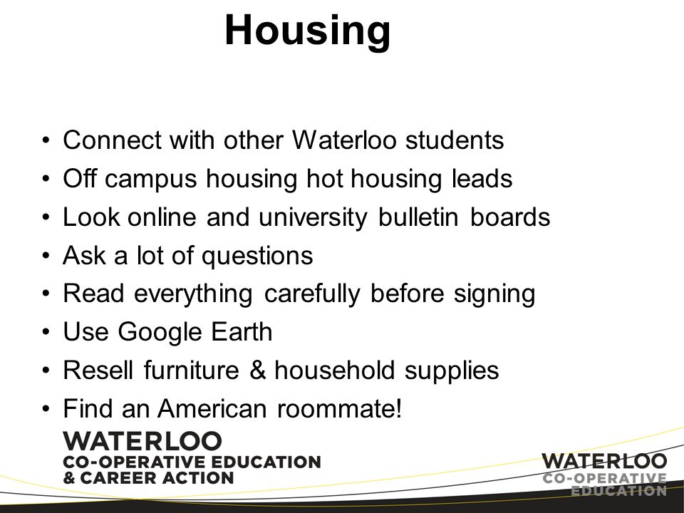 Housing Connect with other Waterloo students