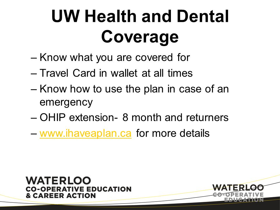 UW Health and Dental Coverage