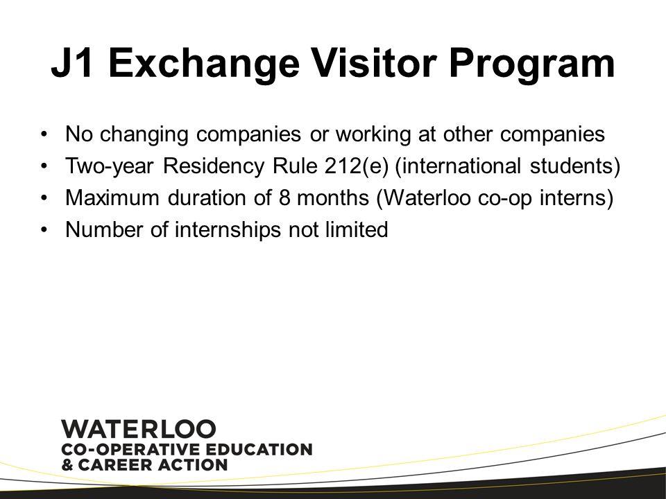 J1 Exchange Visitor Program