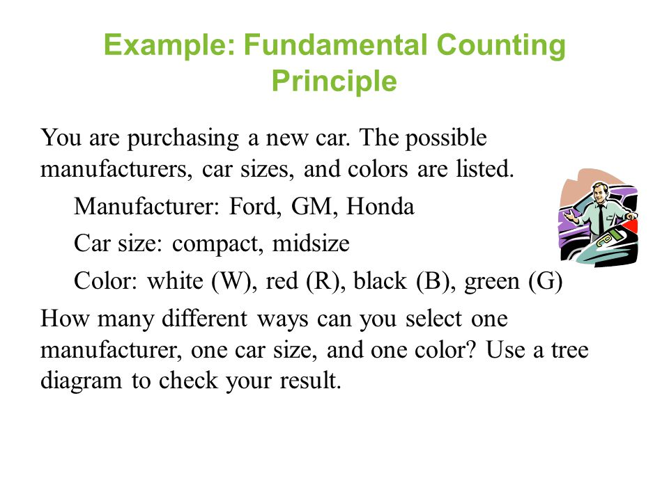 Example: Fundamental Counting Principle
