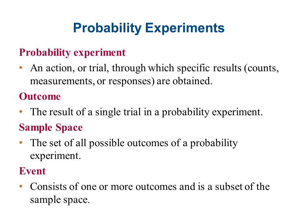 Probability Experiments