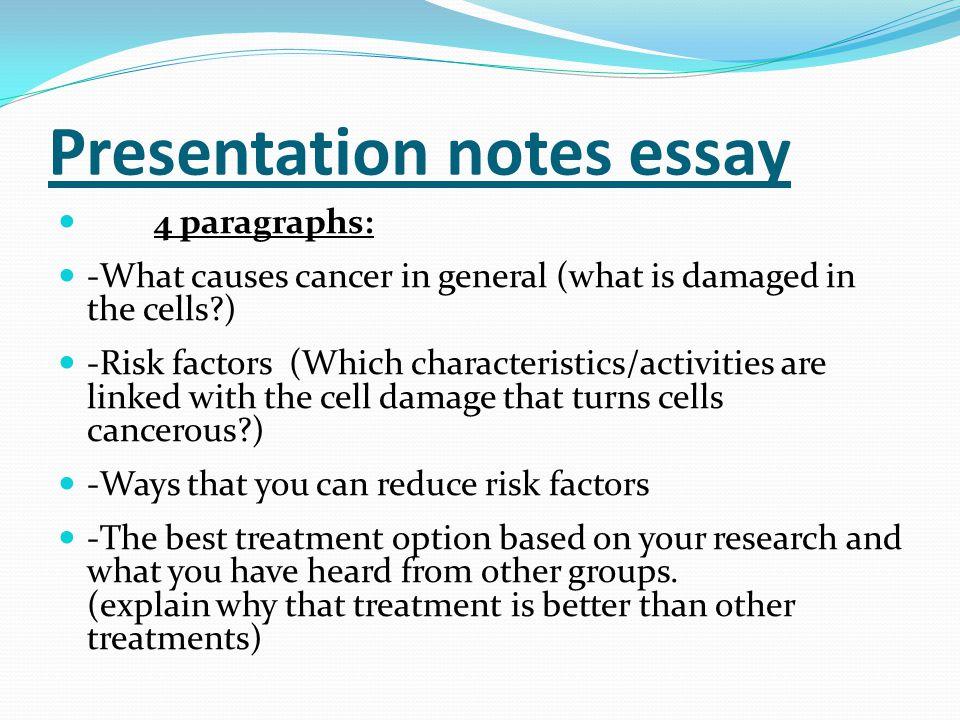 Presentation notes essay