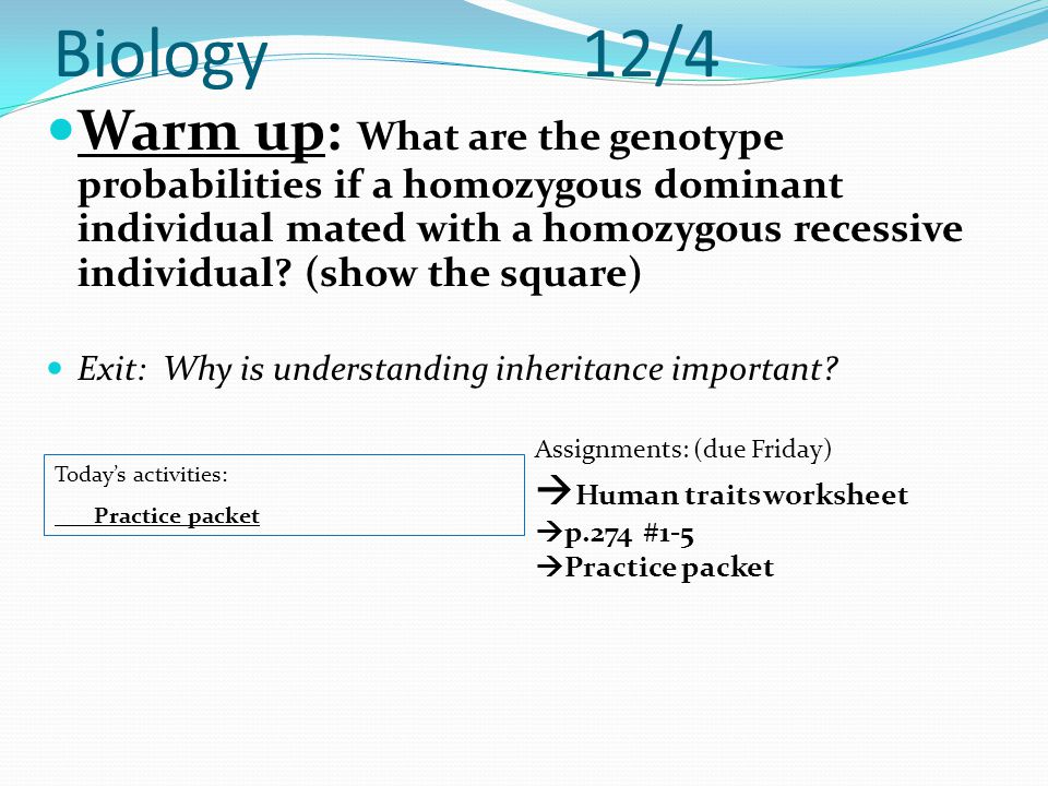 Biology 12/4