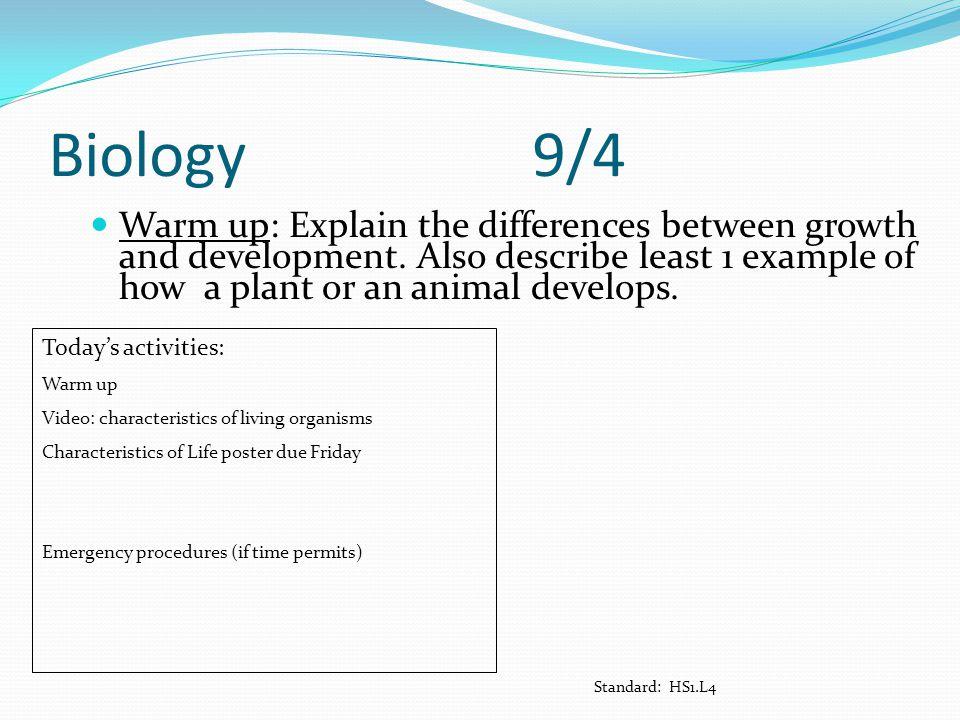 Biology 9/4