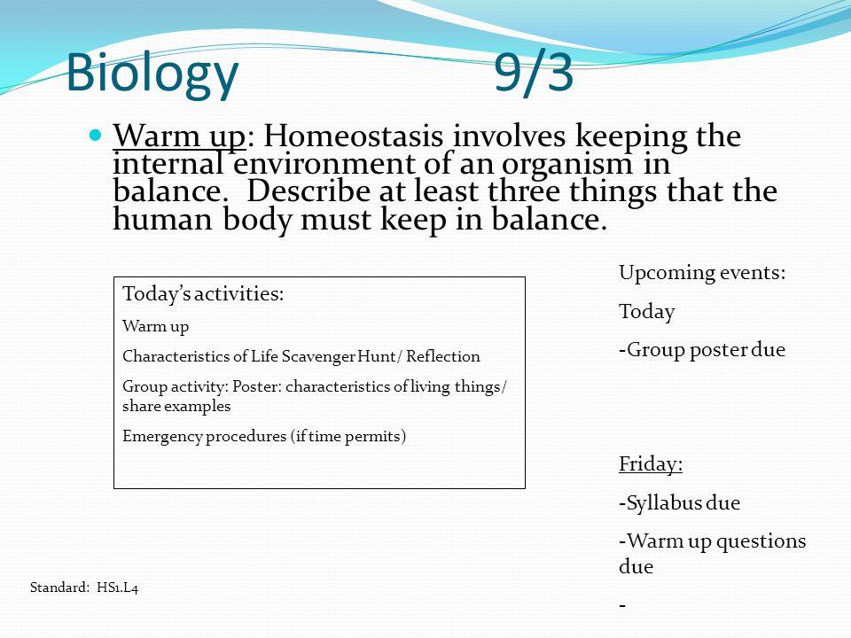 Biology 9/3