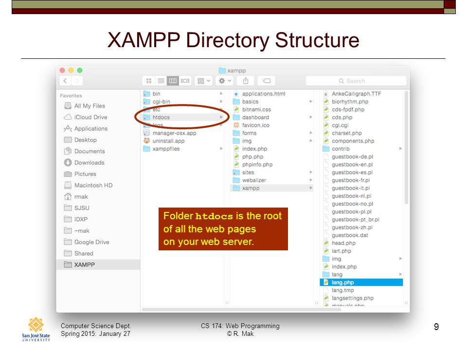 XAMPP Directory Structure