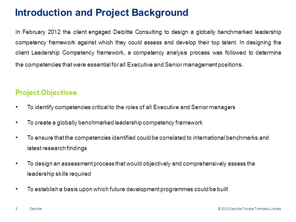 Introduction and Project Background