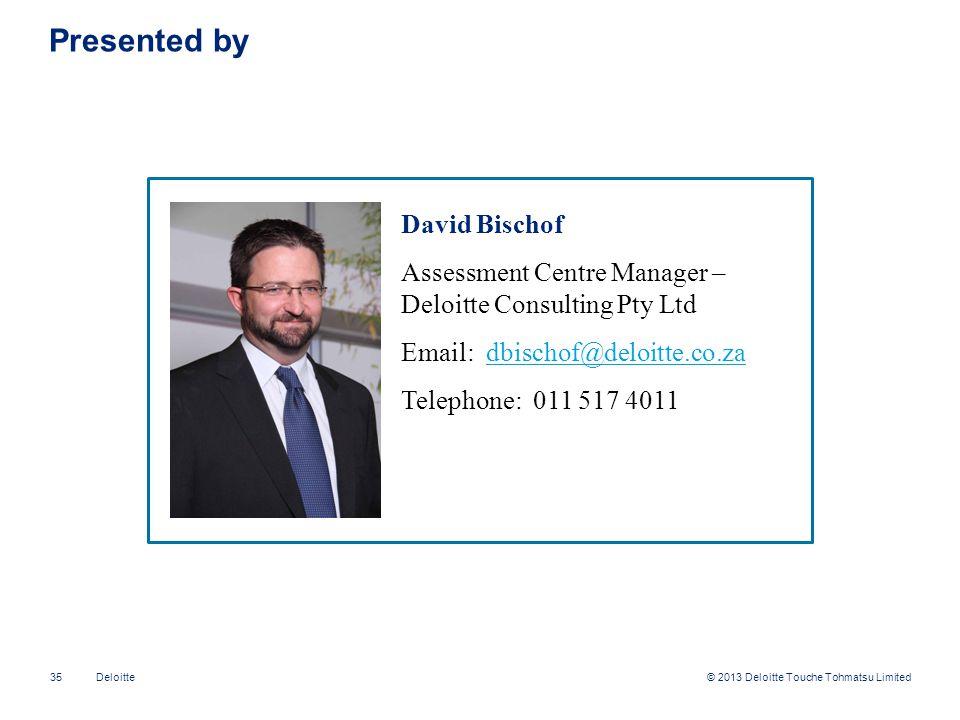 Presented by David Bischof