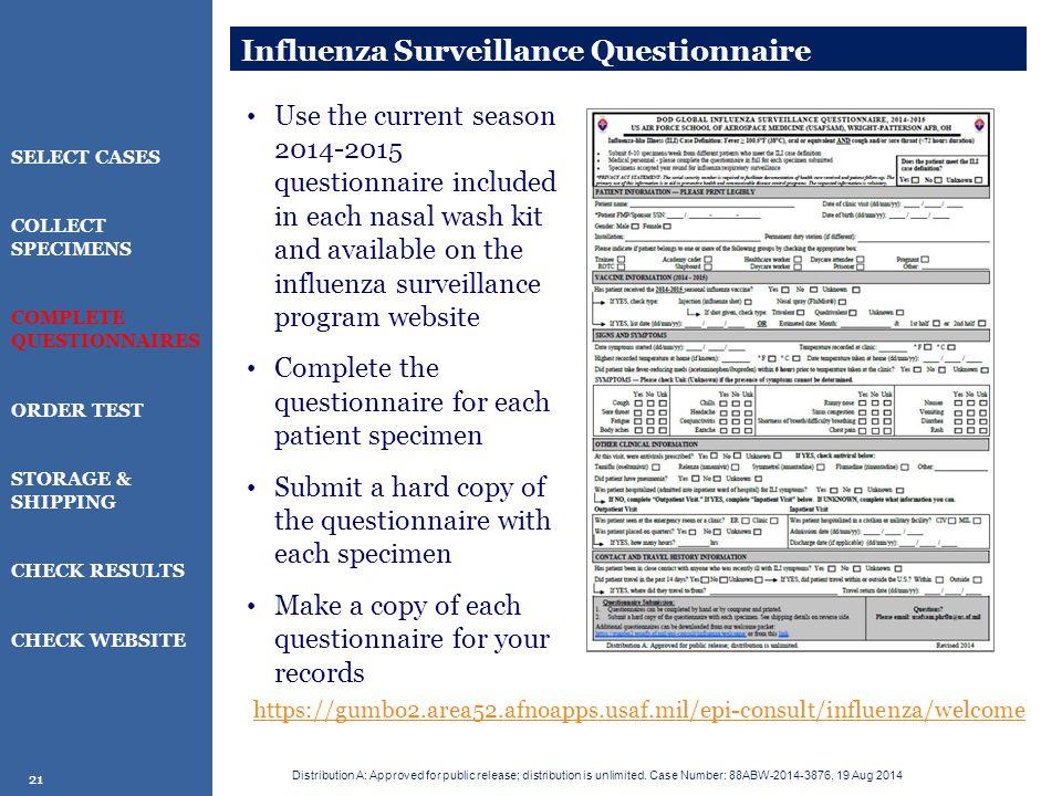 Influenza Surveillance Questionnaire