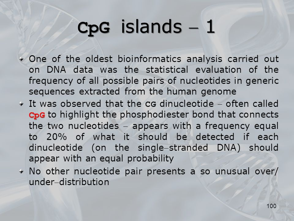 CpG islands  1