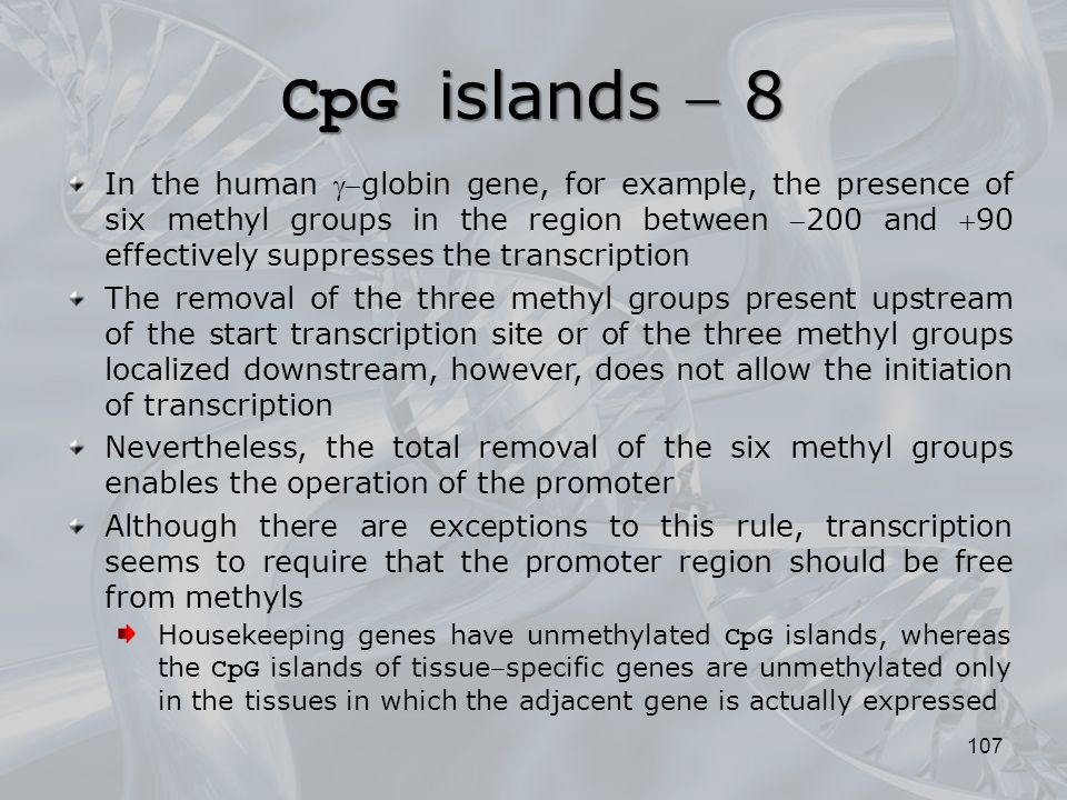 CpG islands  8