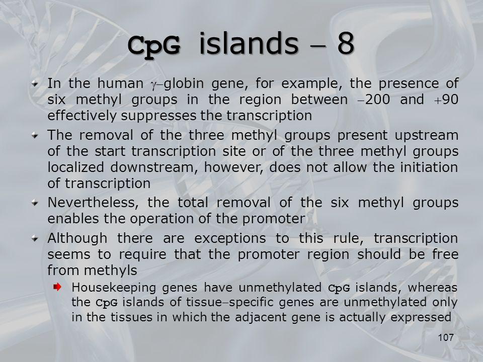 CpG islands  8