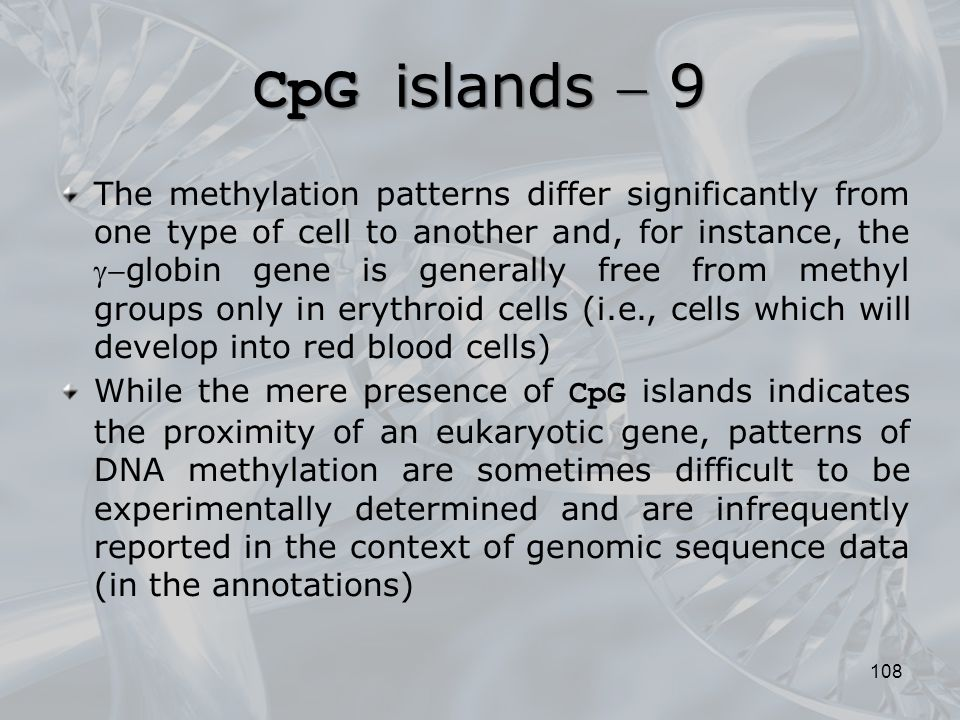 CpG islands  9