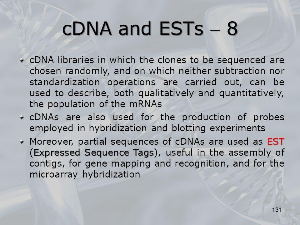 cDNA and ESTs  8