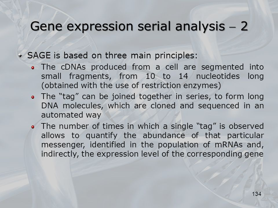 Gene expression serial analysis  2