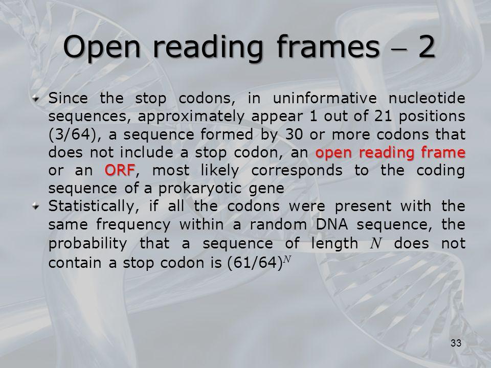Open reading frames  2