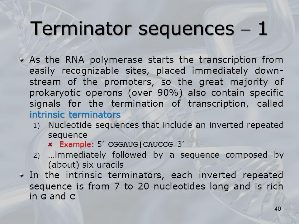 Terminator sequences  1
