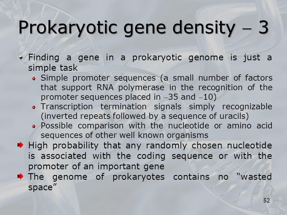 Prokaryotic gene density  3