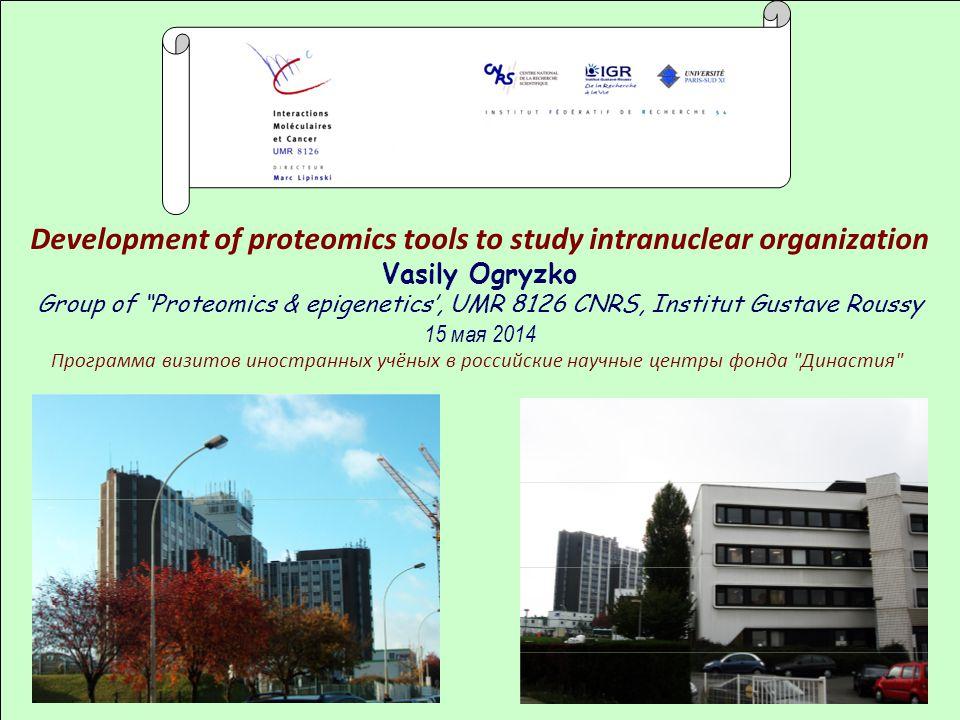 Development of proteomics tools to study intranuclear organization
