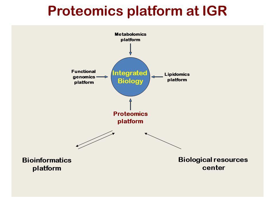 Proteomics platform at IGR