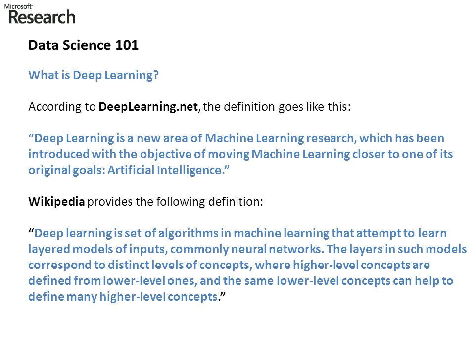 Data Science 101 What is Deep Learning