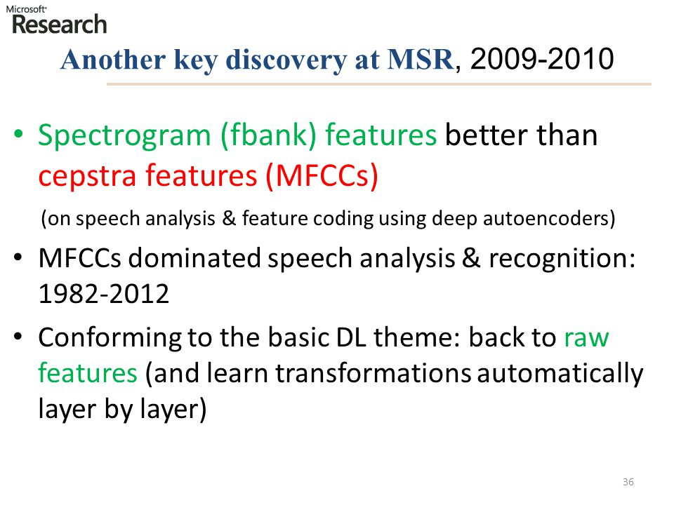 Another key discovery at MSR, 2009-2010
