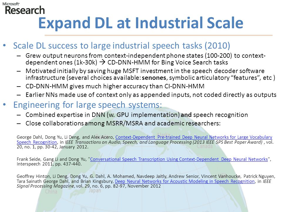 Expand DL at Industrial Scale