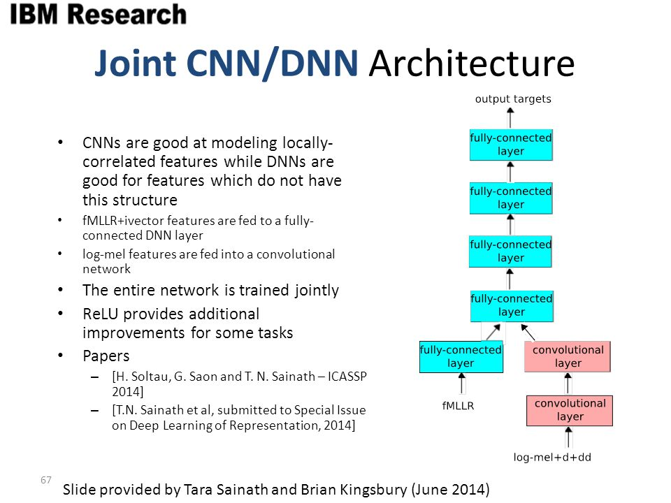Joint CNN/DNN Architecture