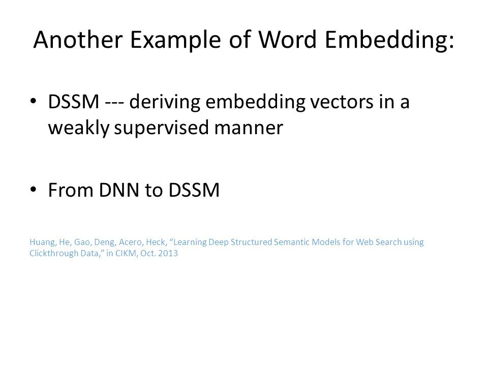 Another Example of Word Embedding: