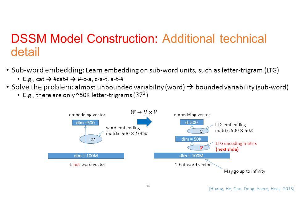 DSSM Model Construction: Additional technical detail
