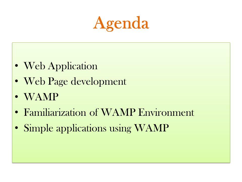 Agenda Web Application Web Page development WAMP