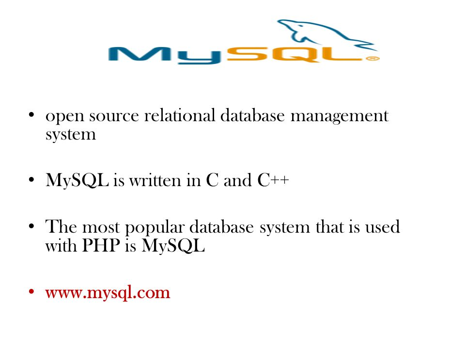 open source relational database management system