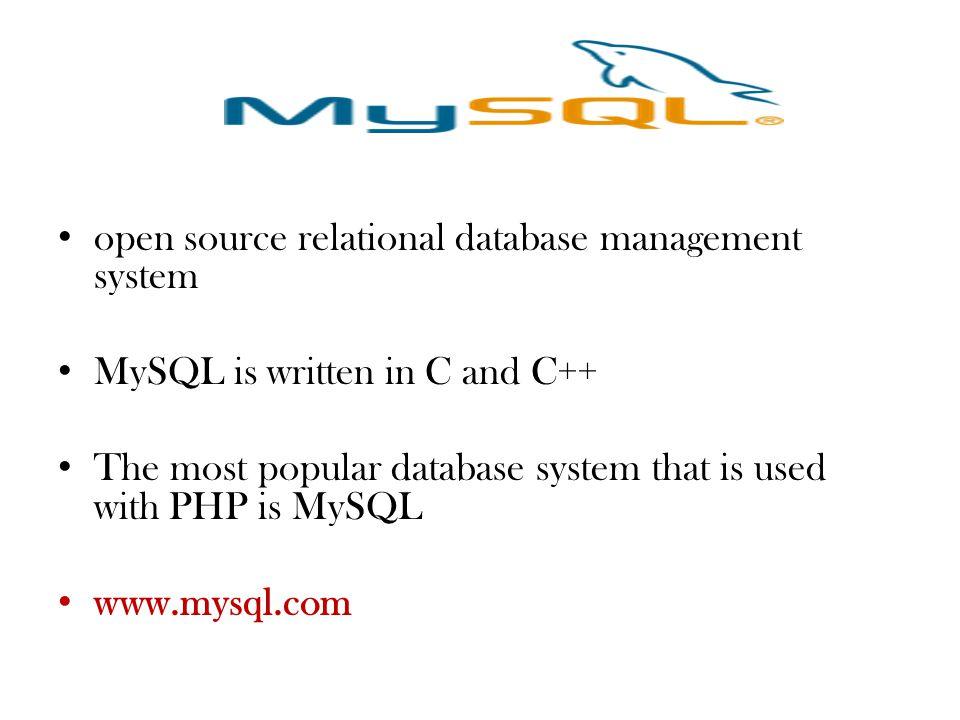 open source relational database management system