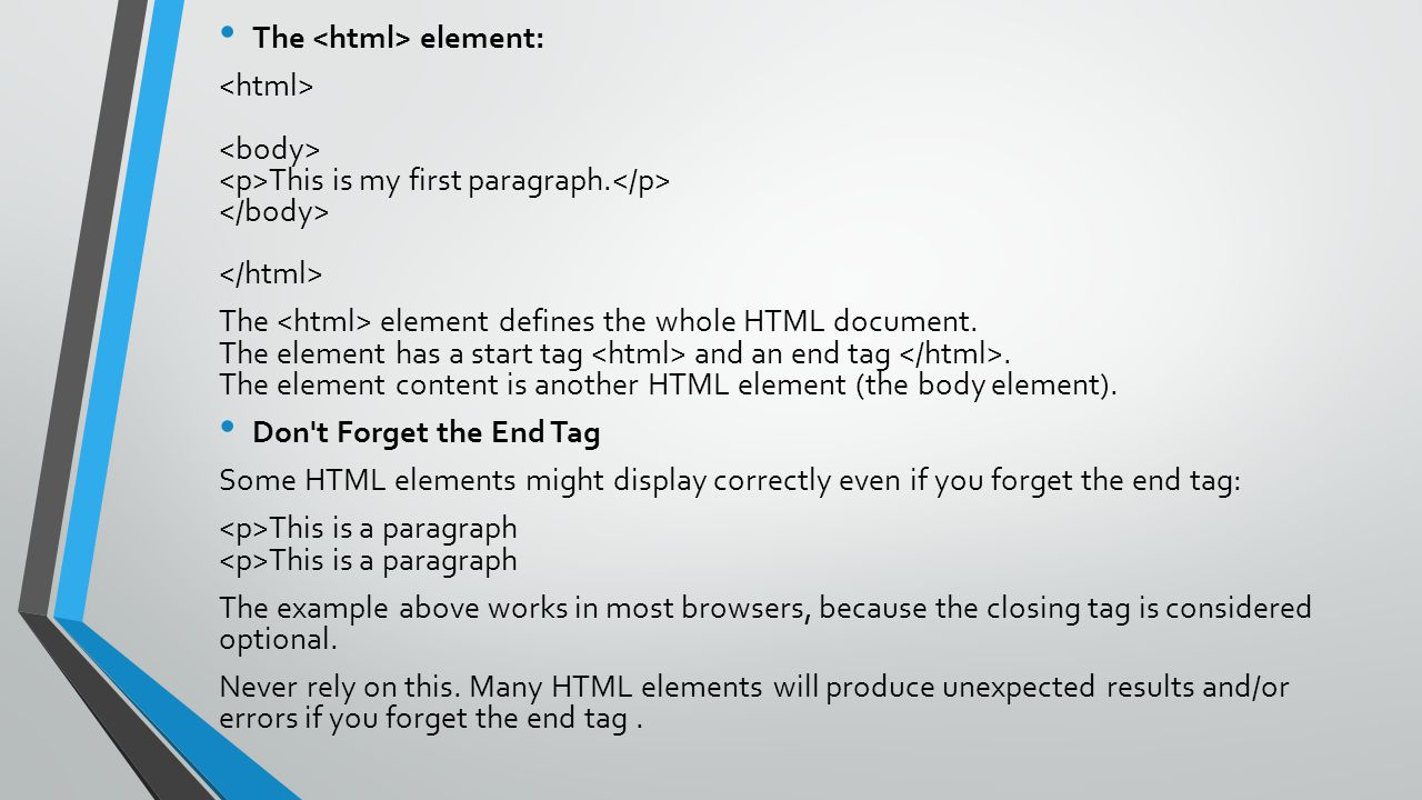 The <html> element: