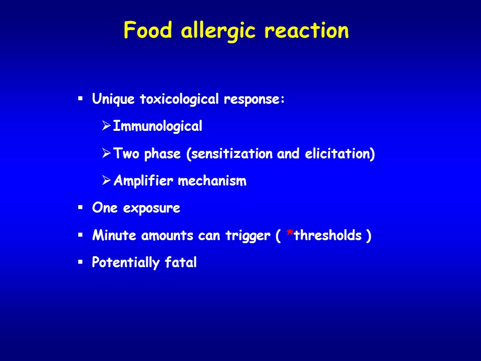 Food allergic reaction